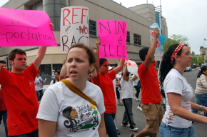 Thousands Take the Streets of Chicago Protesting for Immigration Reform